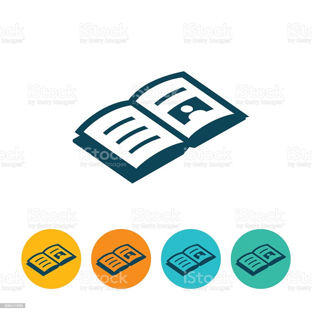 Open Book Icon vector art illustration