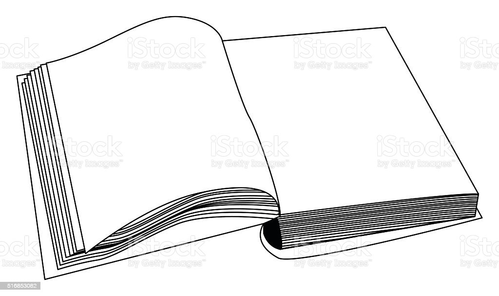 Open book vector clipart, symbol, icon  design. vector art illustration
