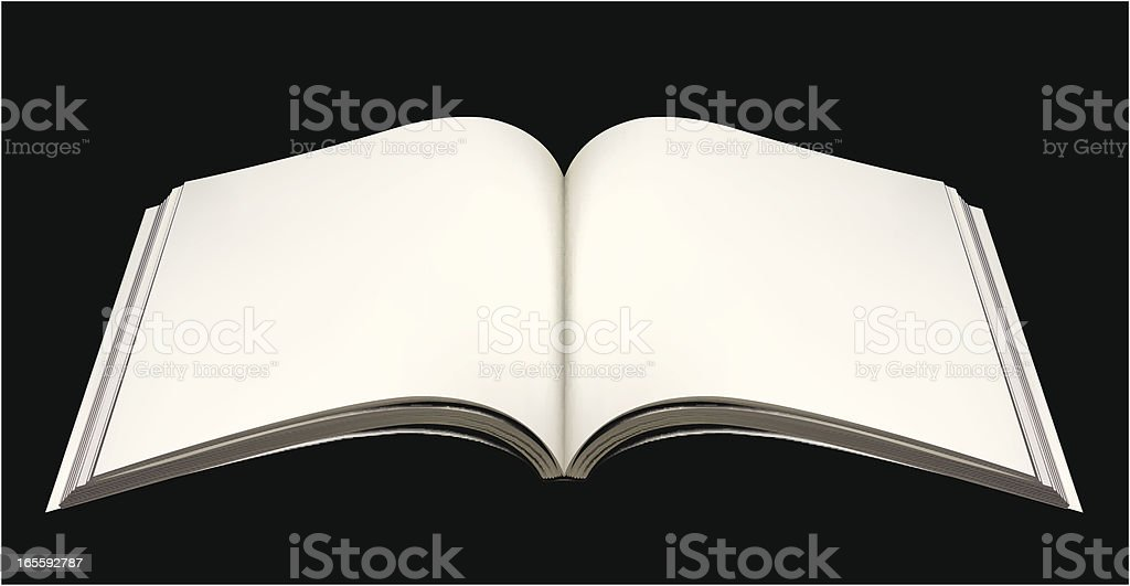 Open book royalty-free stock vector art