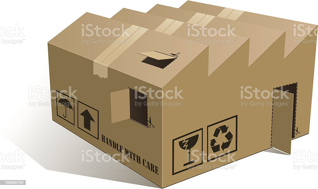 Open Box factory royalty-free stock vector art