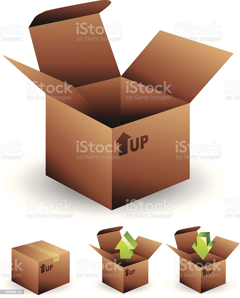 Open box royalty-free stock vector art
