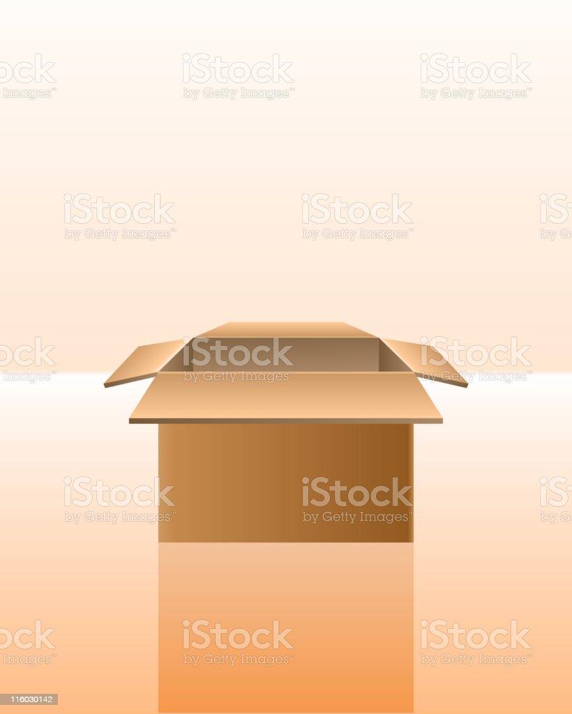 Open cardboard box royalty-free stock vector art