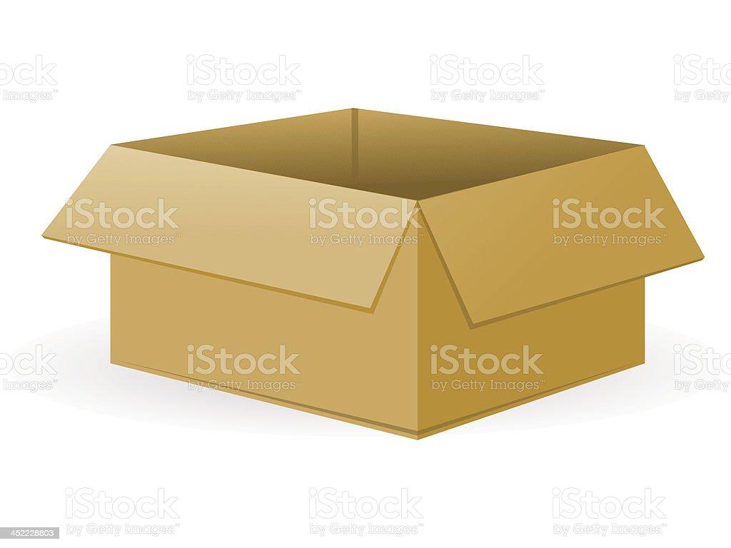 Open Cardboard Package royalty-free stock vector art