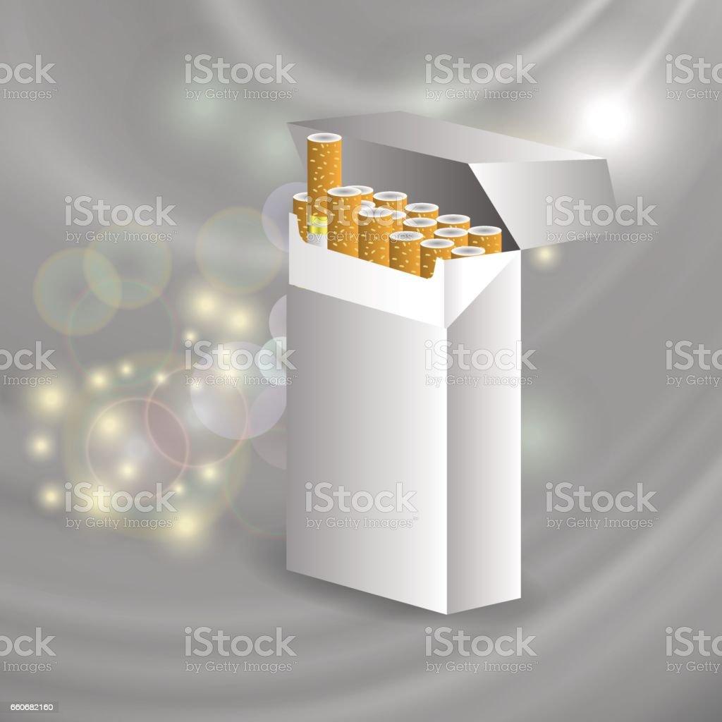 Open Cigarette Pack vector art illustration