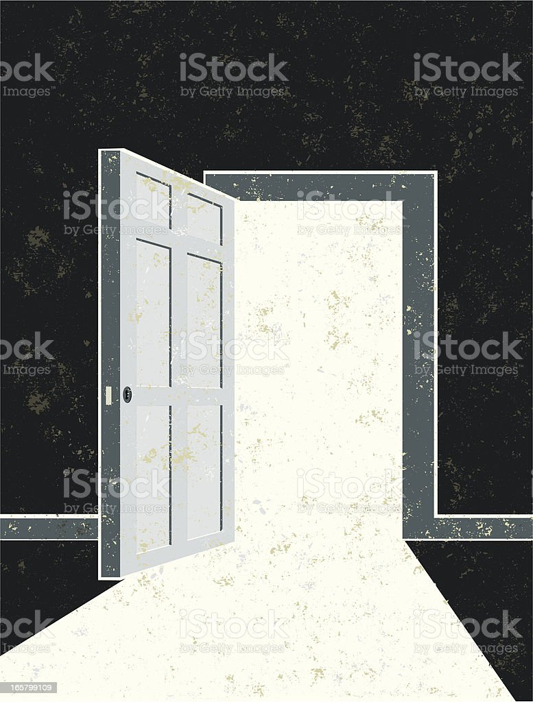 Open Door and Doorway royalty-free stock vector art