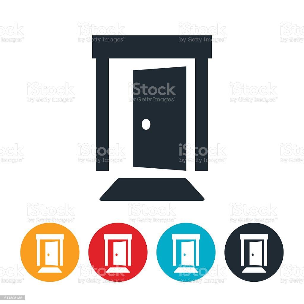 Open Door Icon vector art illustration
