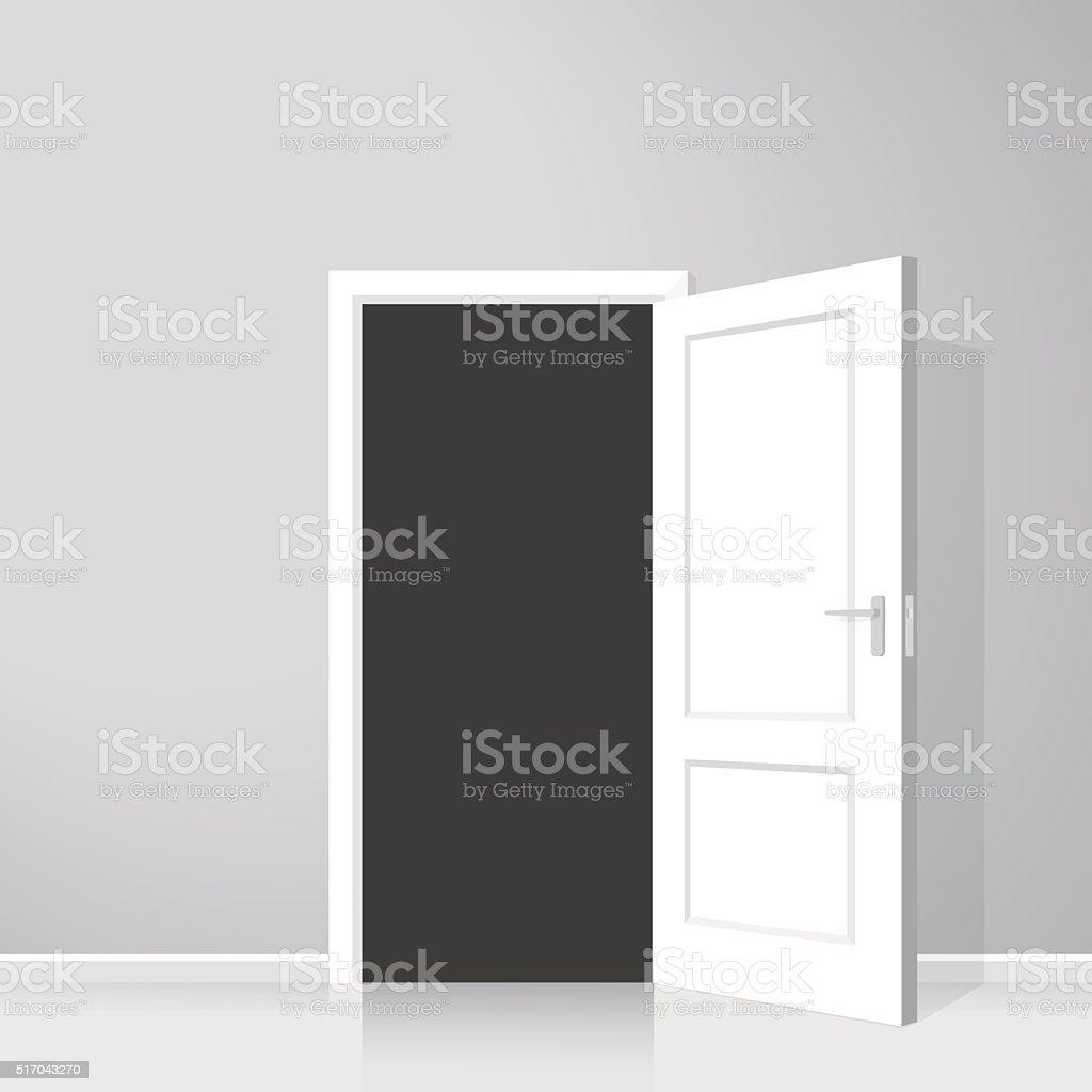 Open door. Realistic vector illustration vector art illustration