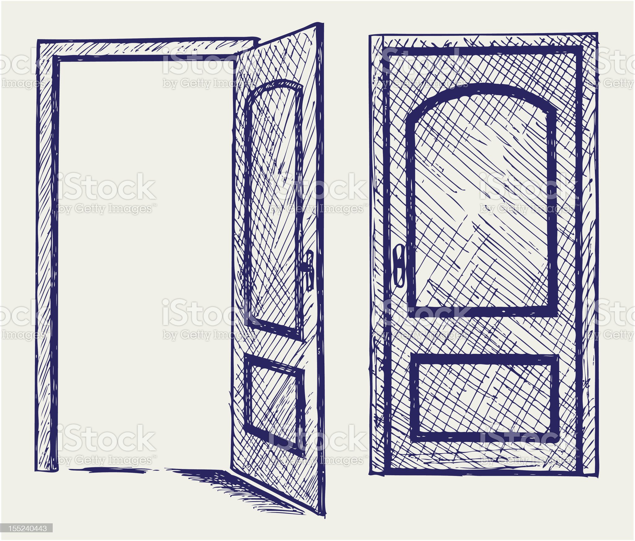 Open door royalty-free stock vector art