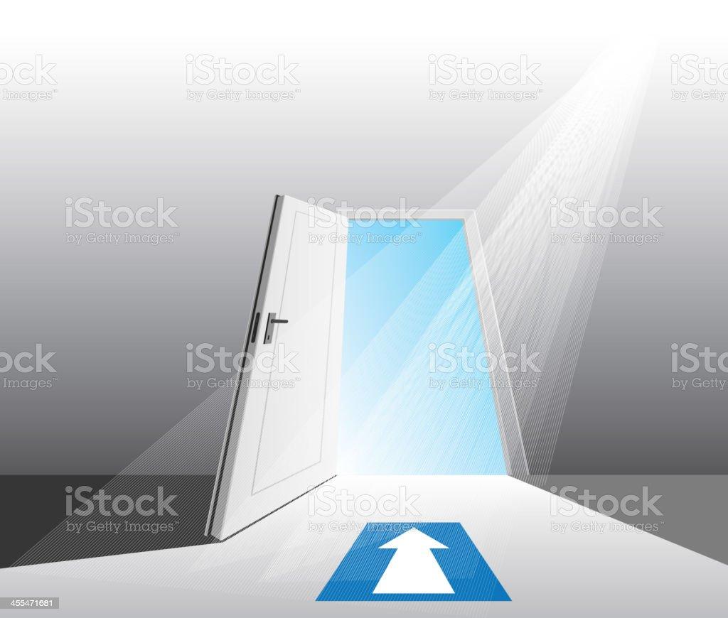 open door royalty-free stock vector art