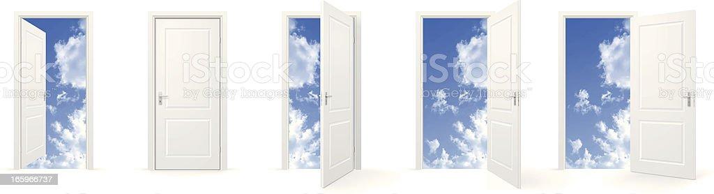 Open doors to sky royalty-free stock vector art