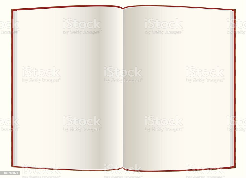 Open empty  hardcover book royalty-free stock photo