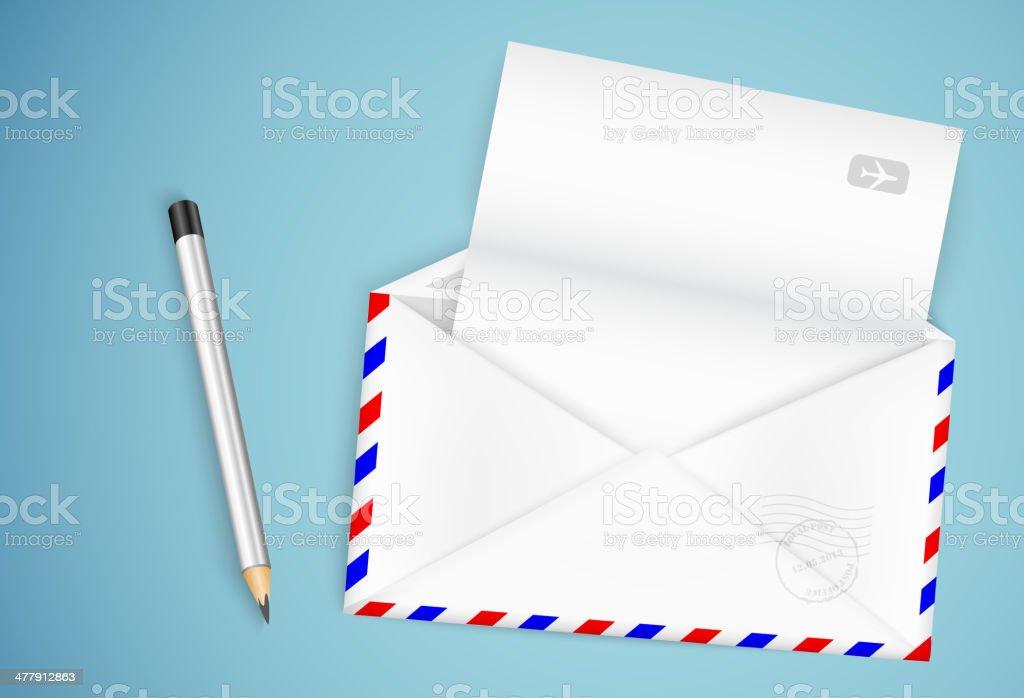 open envelope royalty-free stock vector art