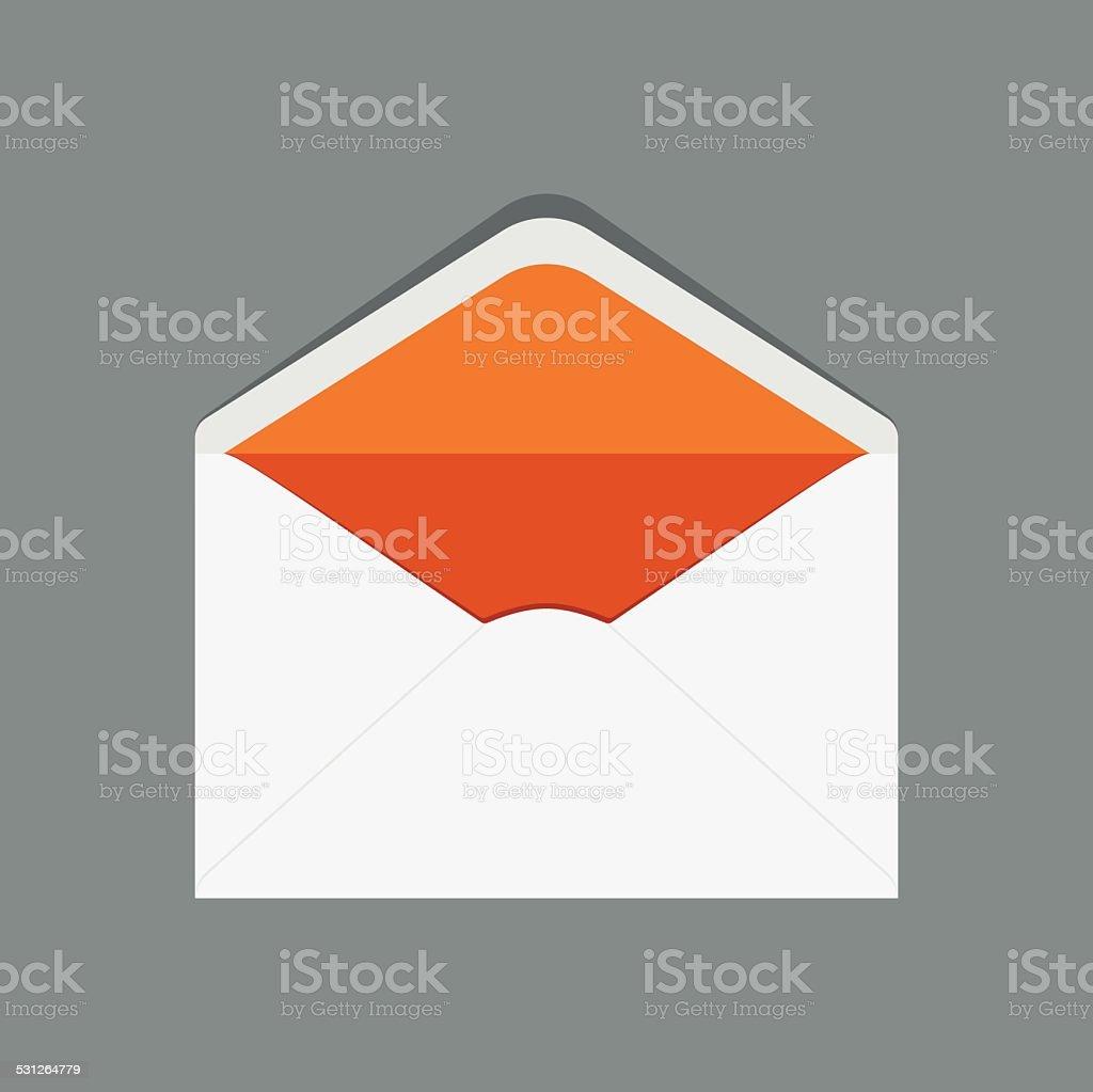 Open Envelope vector art illustration