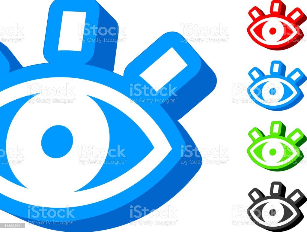 Open Eye 3D icon royalty-free stock vector art