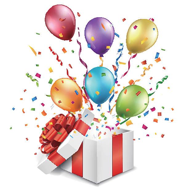 Birthday Present Clip Art, Vector Images & Illustrations