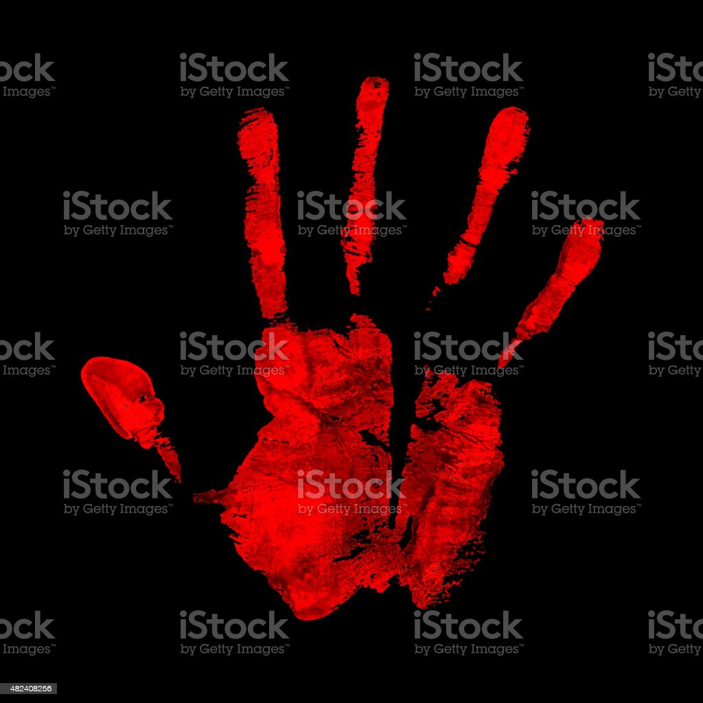 Open hand imprint vector art illustration