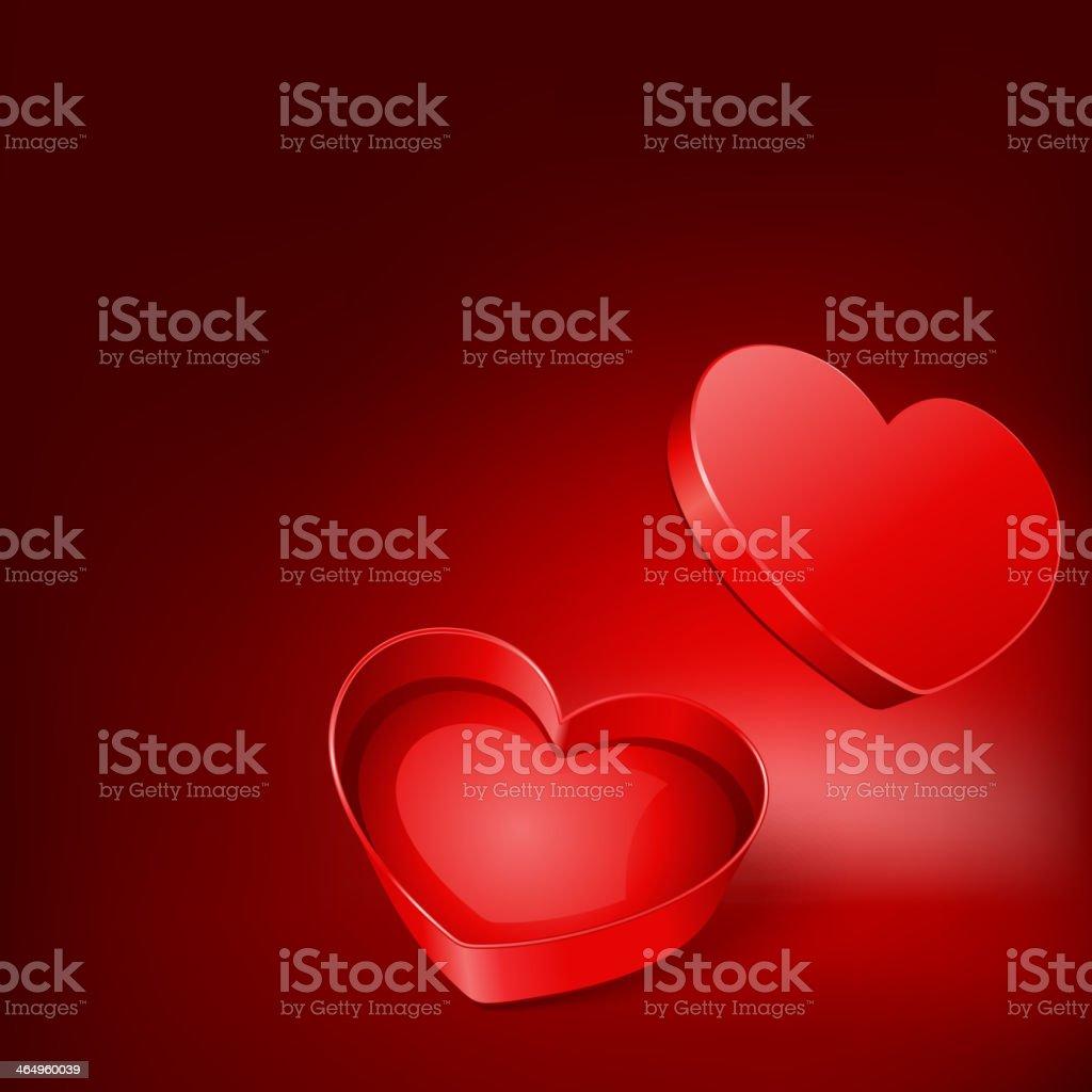 Open heart gift present vector illustration vector art illustration