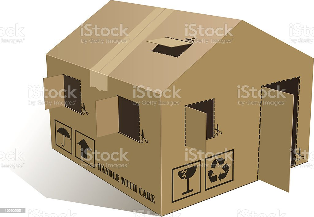 Open Home Box vector art illustration
