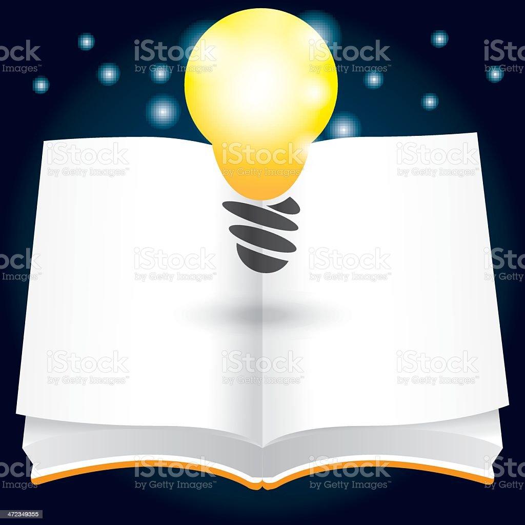 open idea vector art illustration