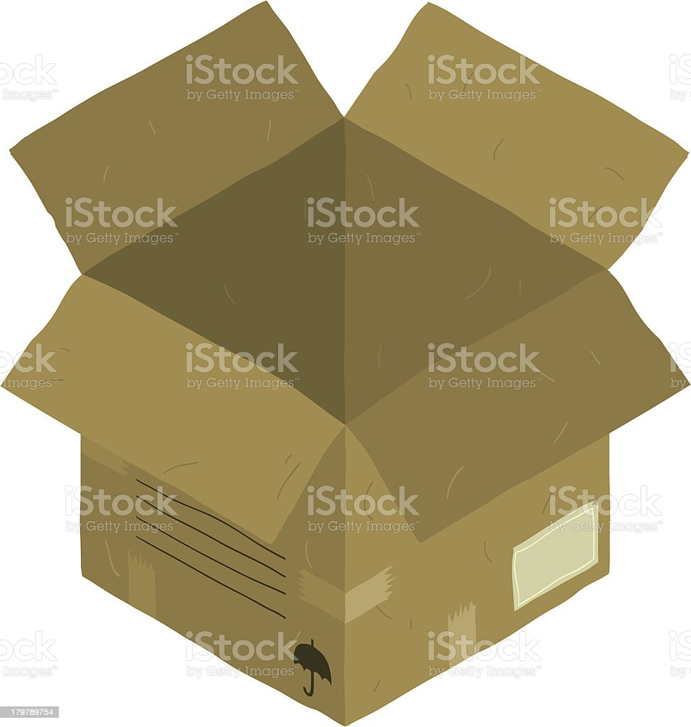 Open isometric carton package box royalty-free stock vector art
