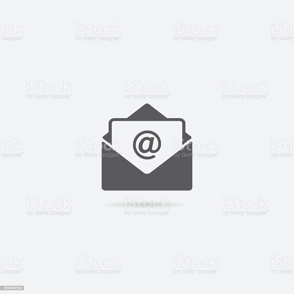 Open Letter or Mail Icon vector art illustration