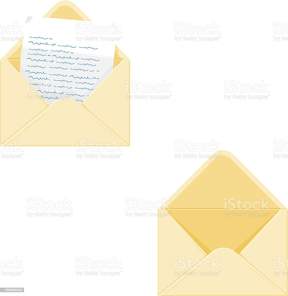 Open letter with empty Envelope vector art illustration