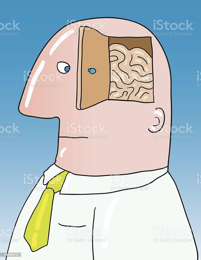 open minded vector art illustration