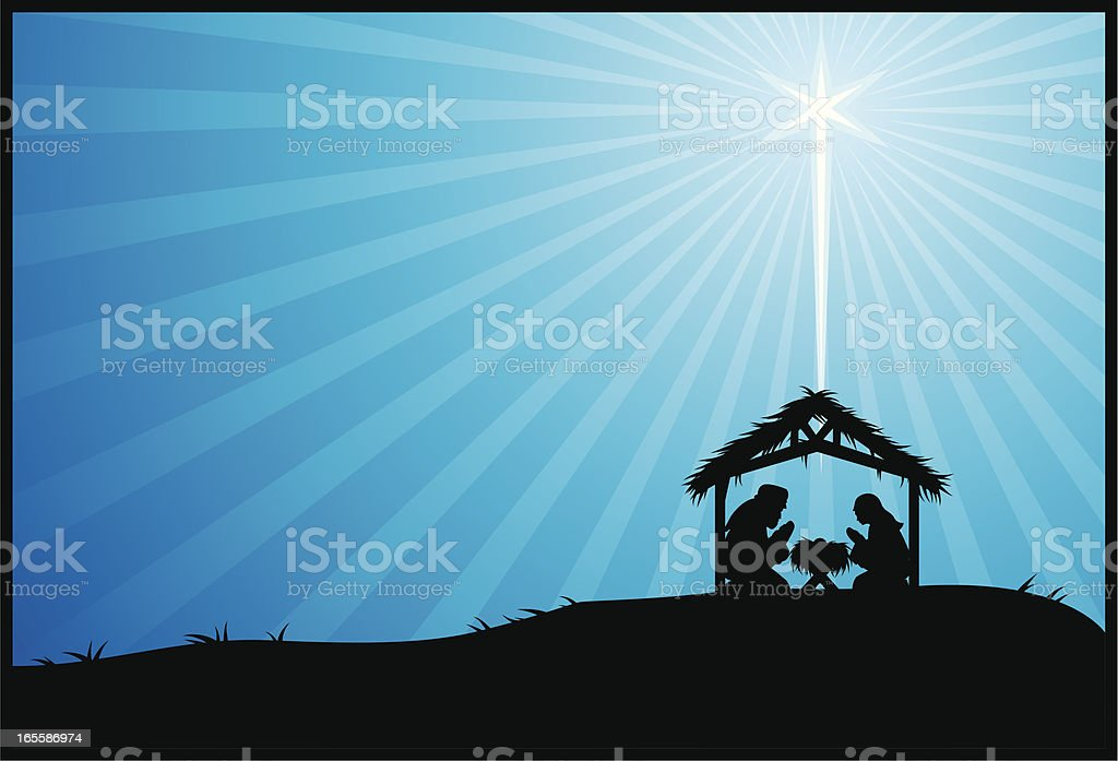 open nativity royalty-free stock vector art