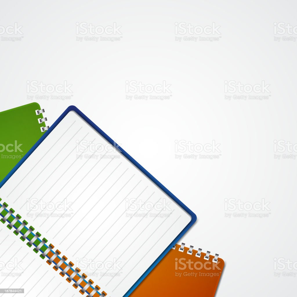 Open notebook royalty-free stock vector art