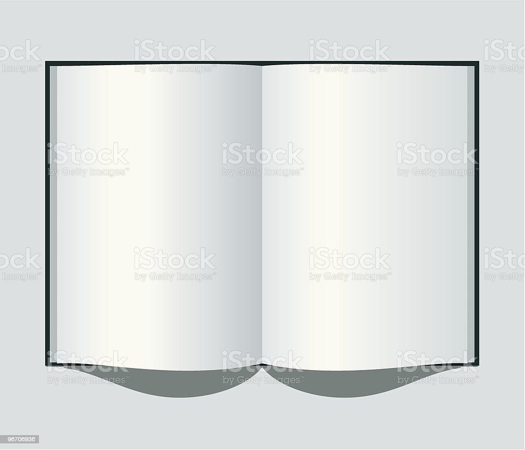 open notebook royalty-free stock vector art
