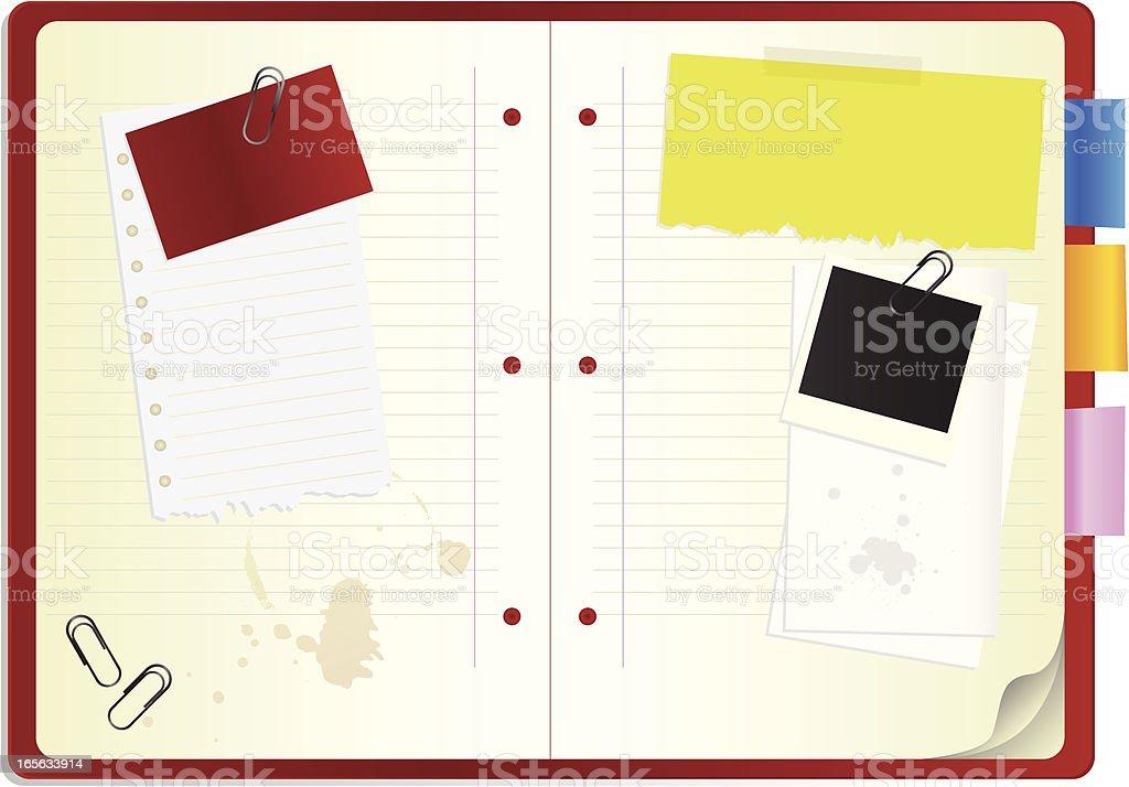 Open Notepad royalty-free stock vector art