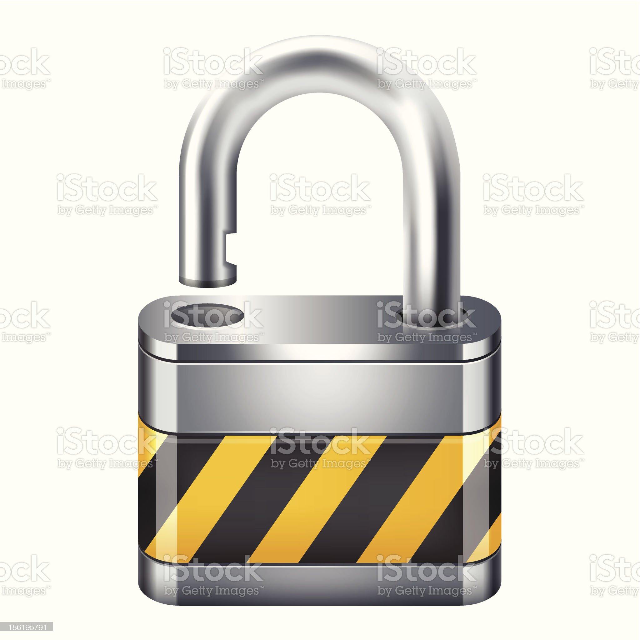 open padlock icon royalty-free stock vector art