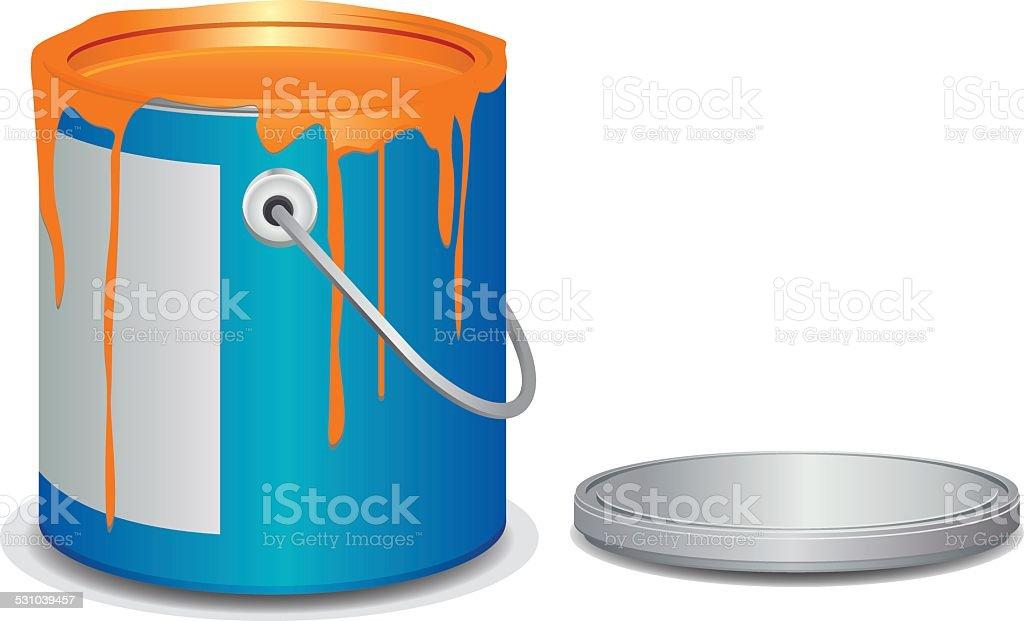 Open paint bucket vector art illustration