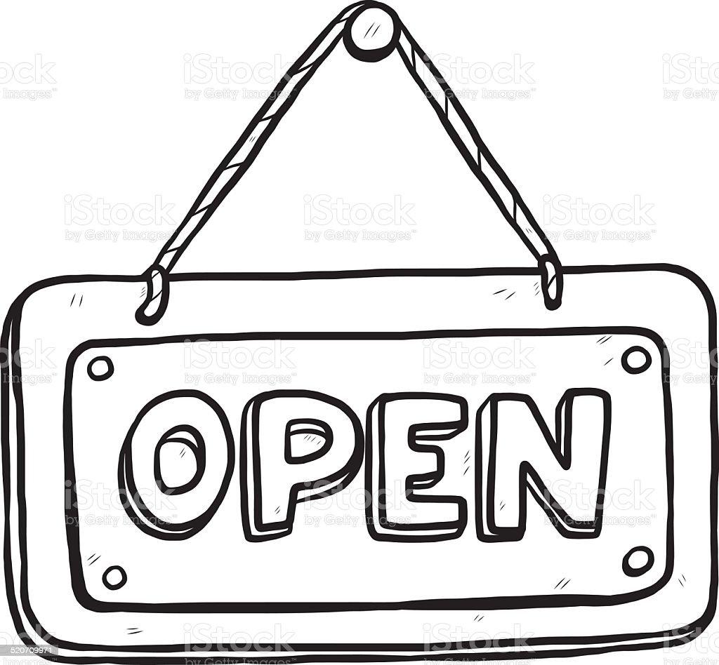 open placard vector art illustration