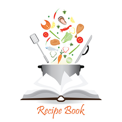 Recipe Book Cover Background Clip Art, Vector Images ...