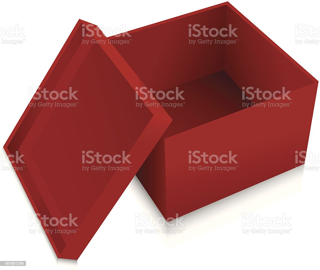 Open red gift box royalty-free stock vector art