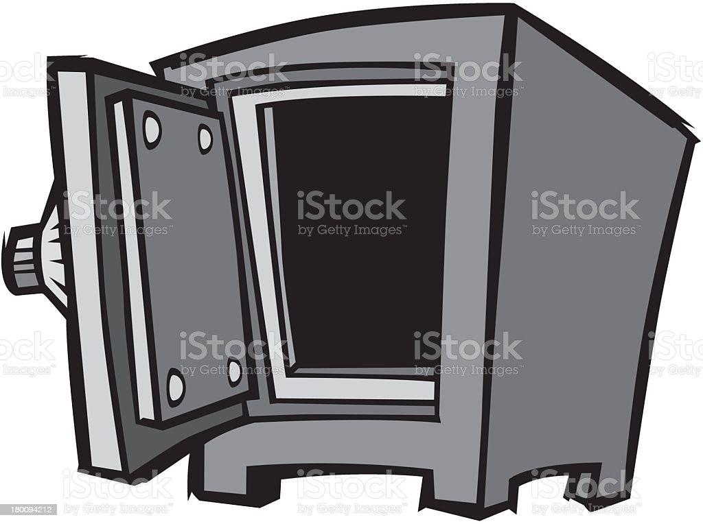 Open Safe royalty-free stock vector art