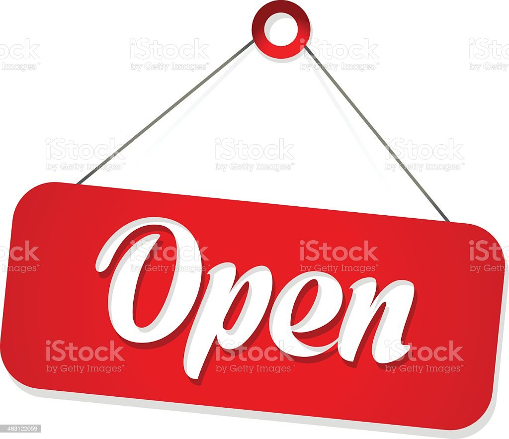 Open Sign vector art illustration