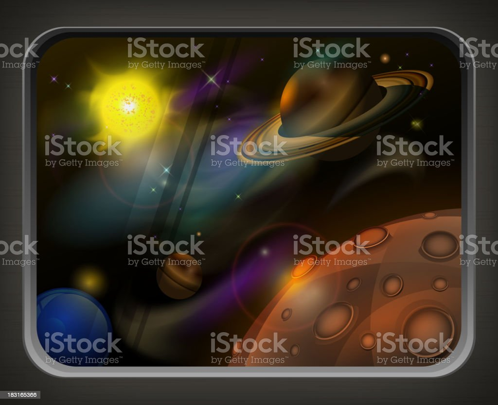 Open space royalty-free stock vector art