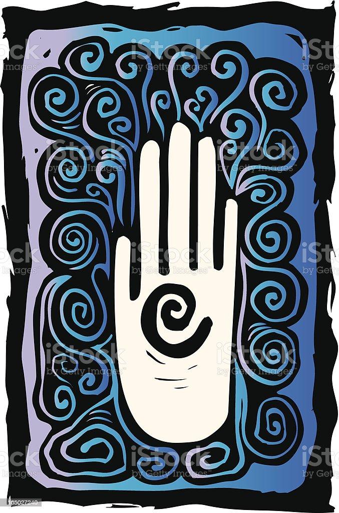 Open Spiral Hand royalty-free stock vector art