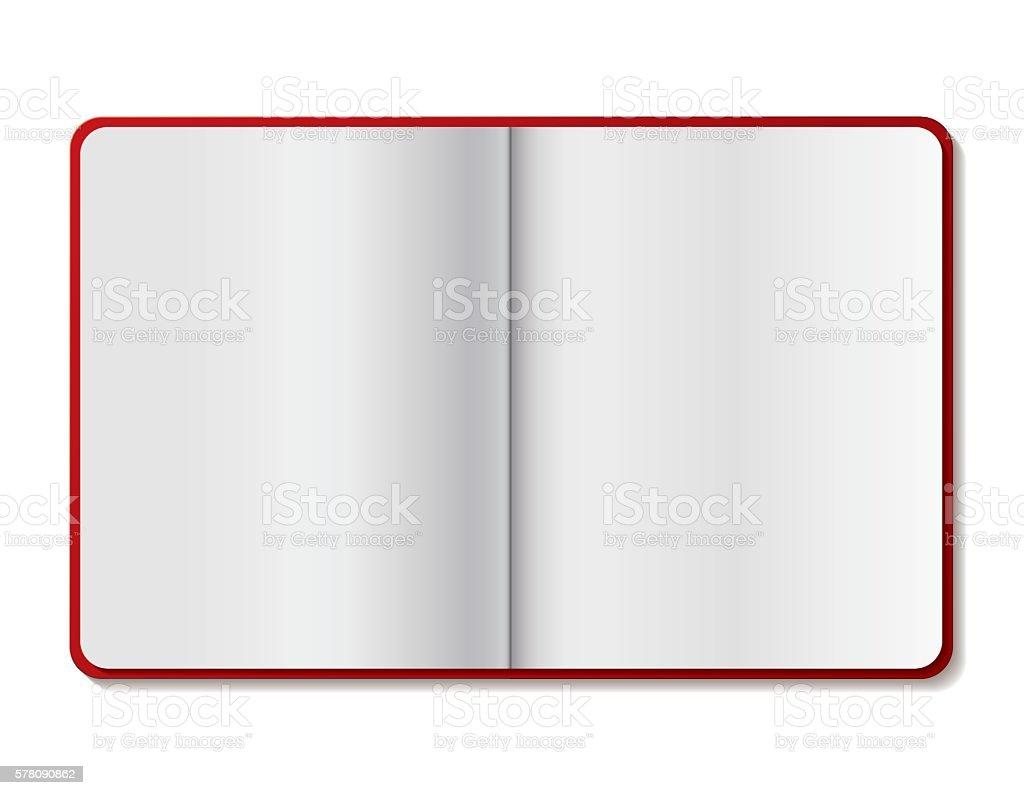 Open spiral notebook vector - Illustration vector art illustration