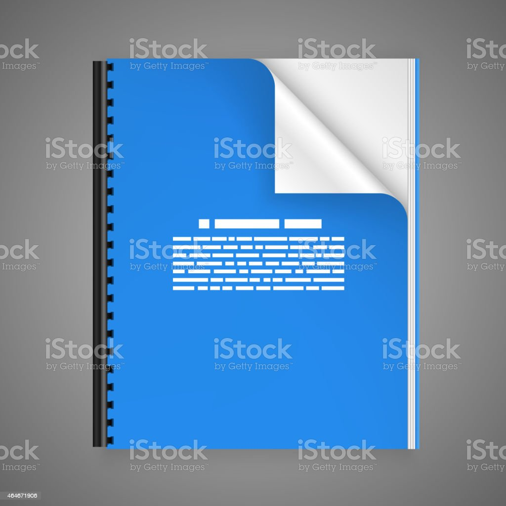 Open the paper journal vector art illustration