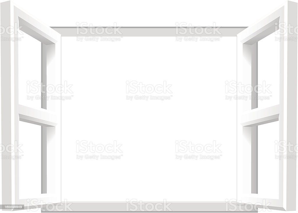Open Window | Add your own image/text vector art illustration