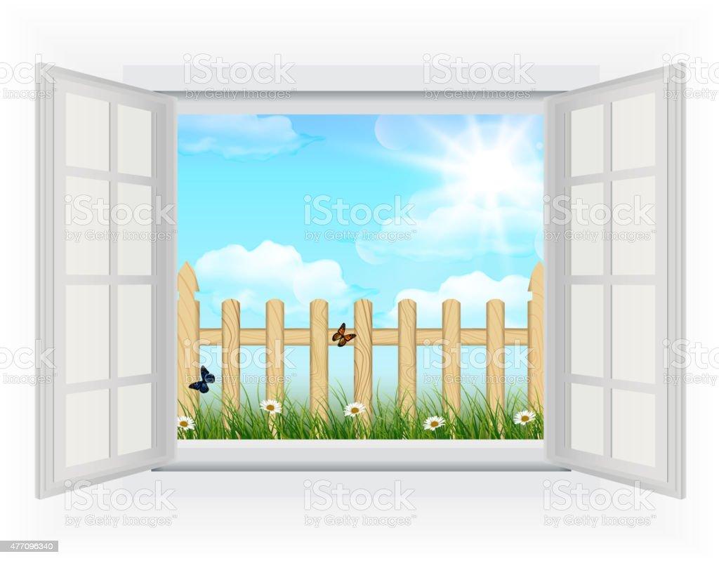 Offenes fenster holz  Fenster öffnen Vektorgrafiken und Illustrationen - iStock