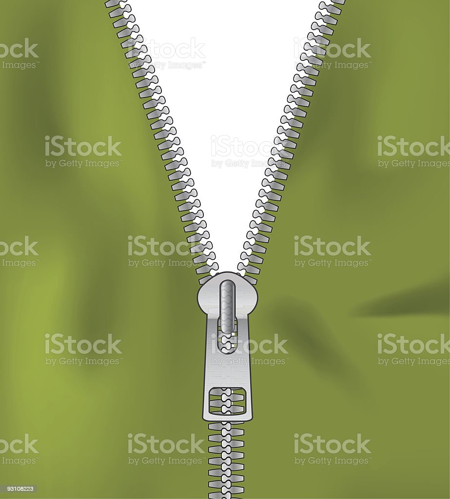 open zipper royalty-free stock vector art