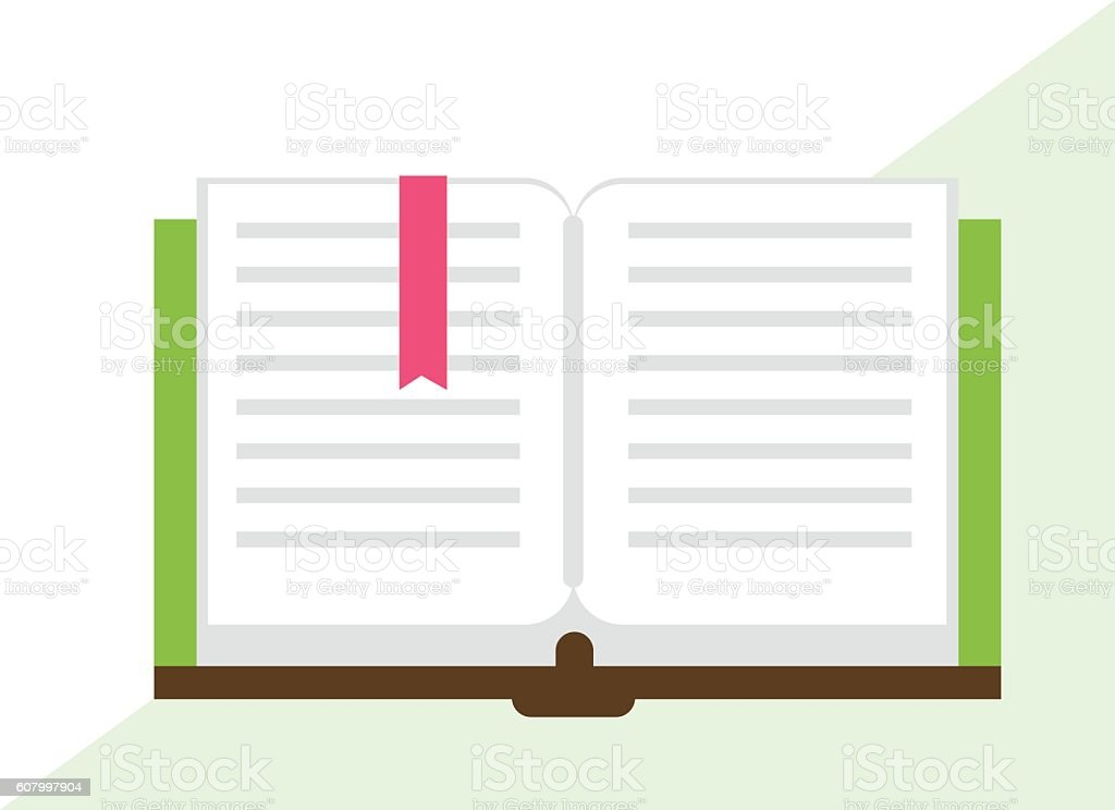 Opened Book Icon vector art illustration