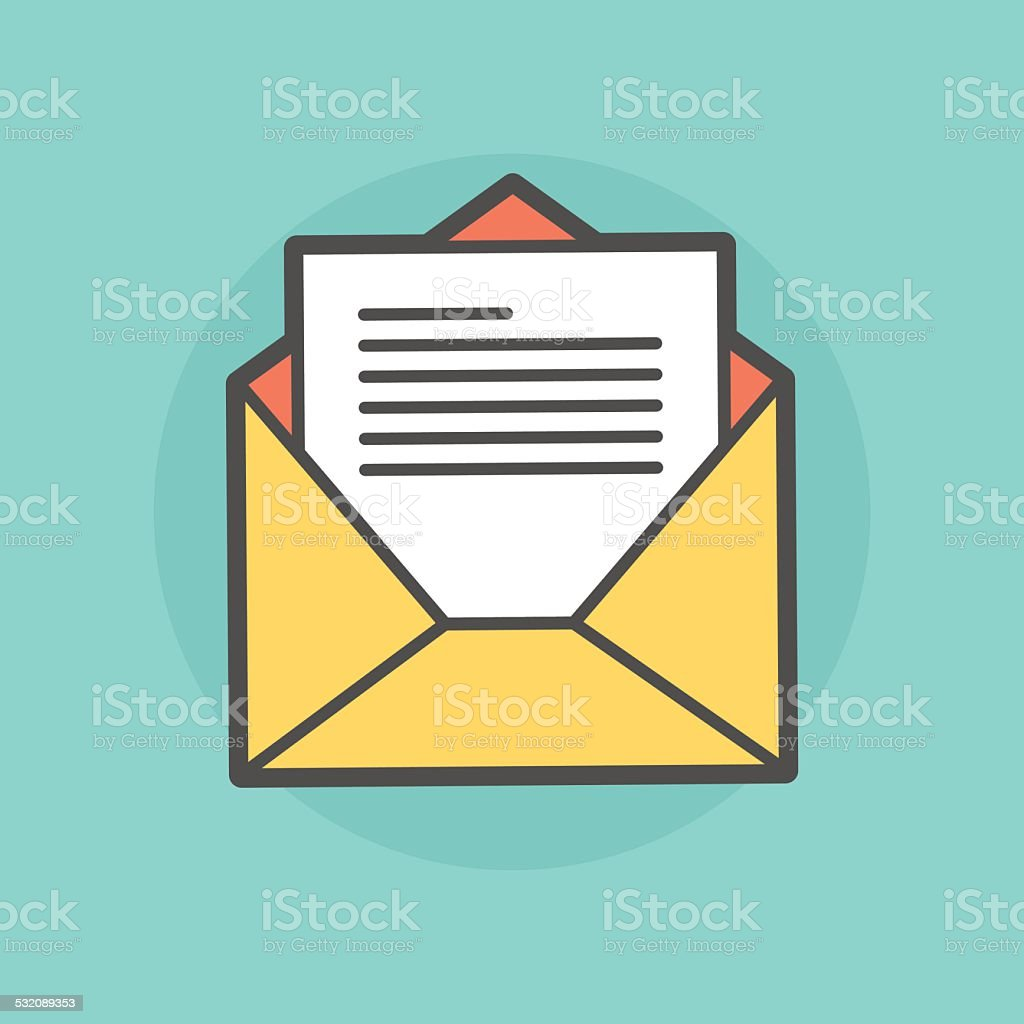 opened envelope with message vector art illustration