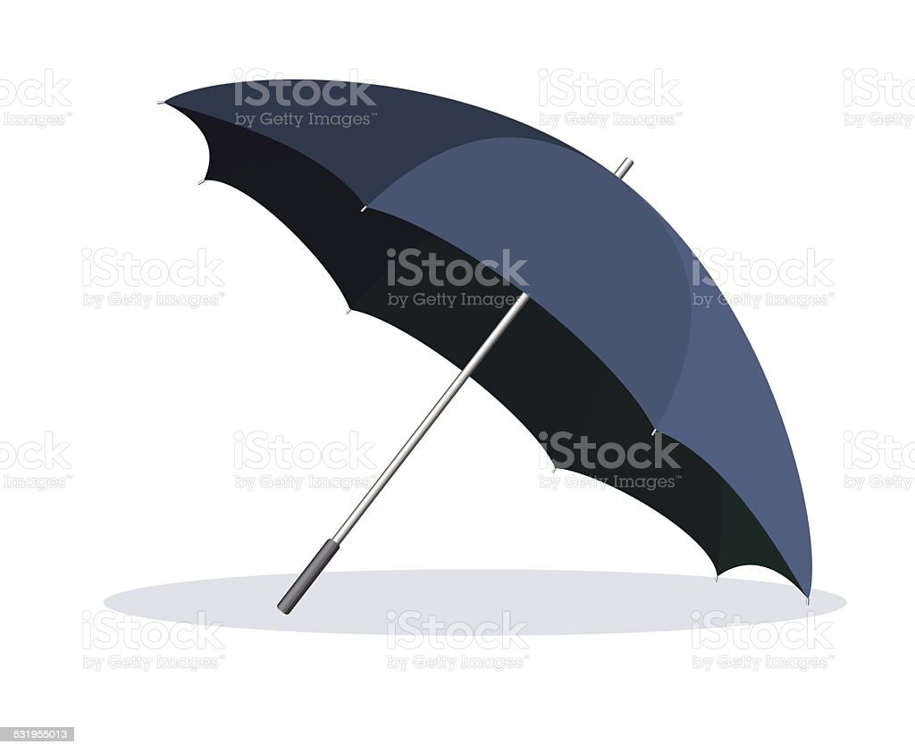 Opened umbrella isolated on white background. vector art illustration