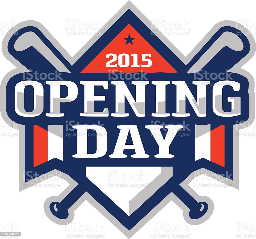 Opening Day Logo vector art illustration