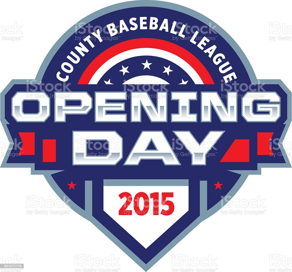 Opening Day Logo vector art illustration